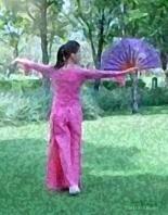 Fan Tai Chi Girl